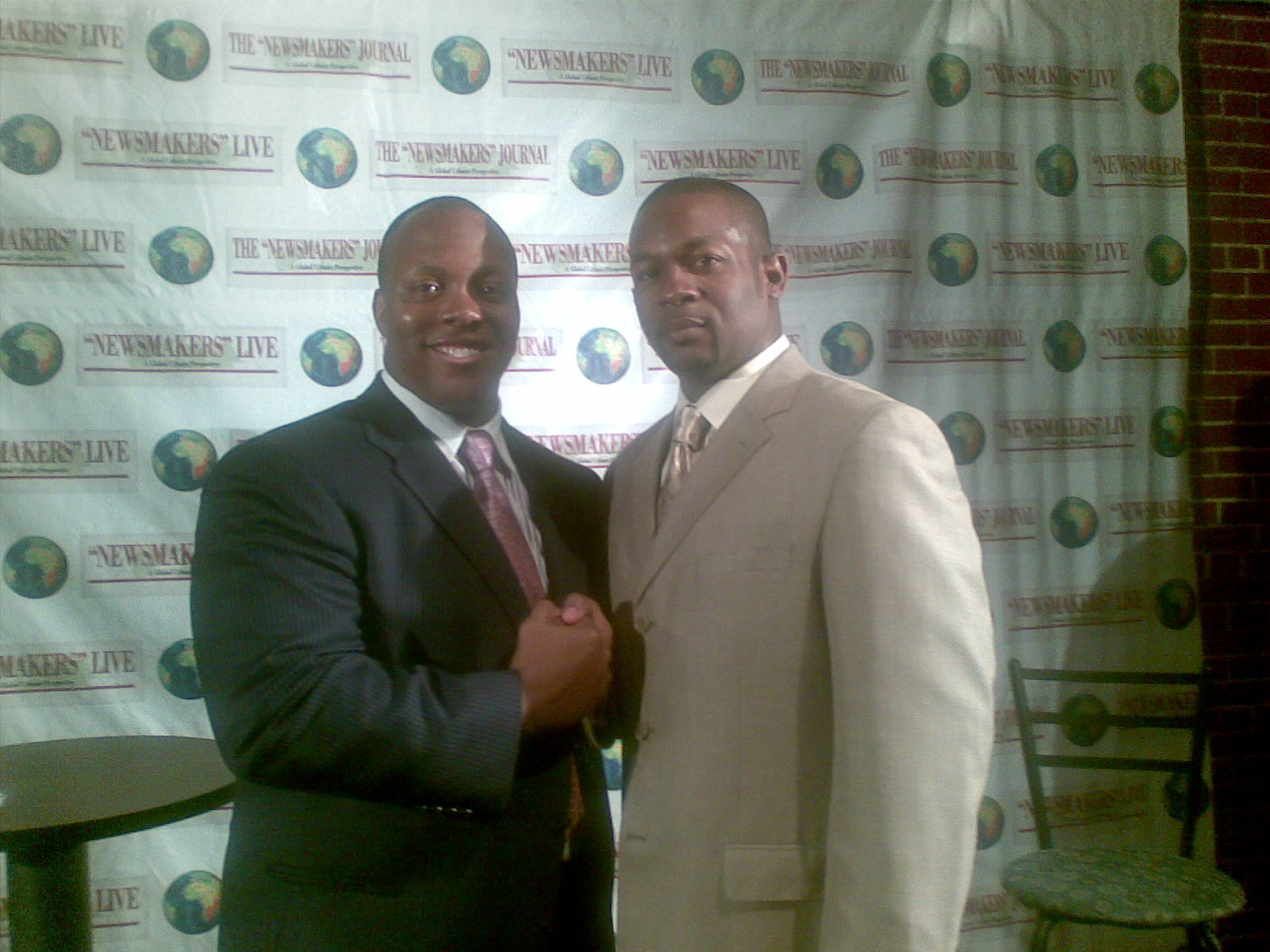 Ronco and Rev. Markel Hutchins